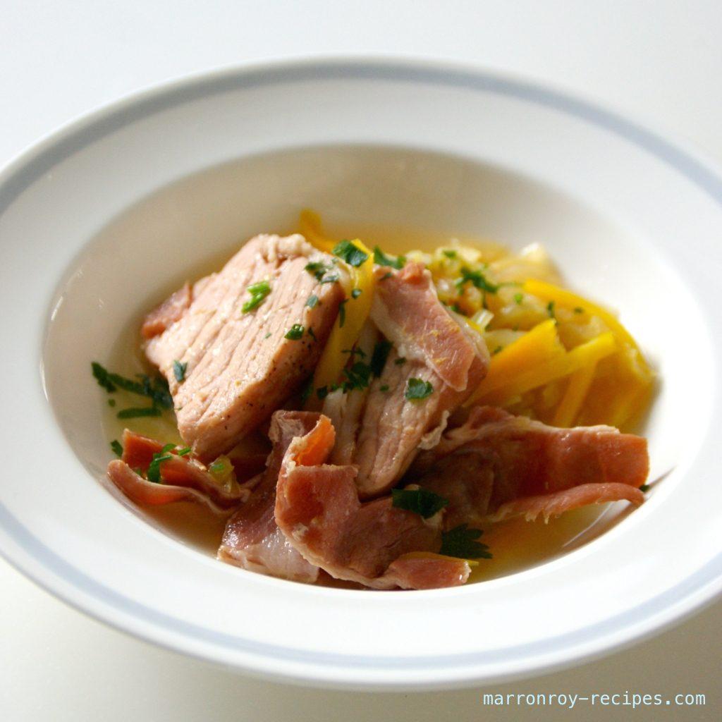 自家製塩漬け豚で簡単煮込み料理