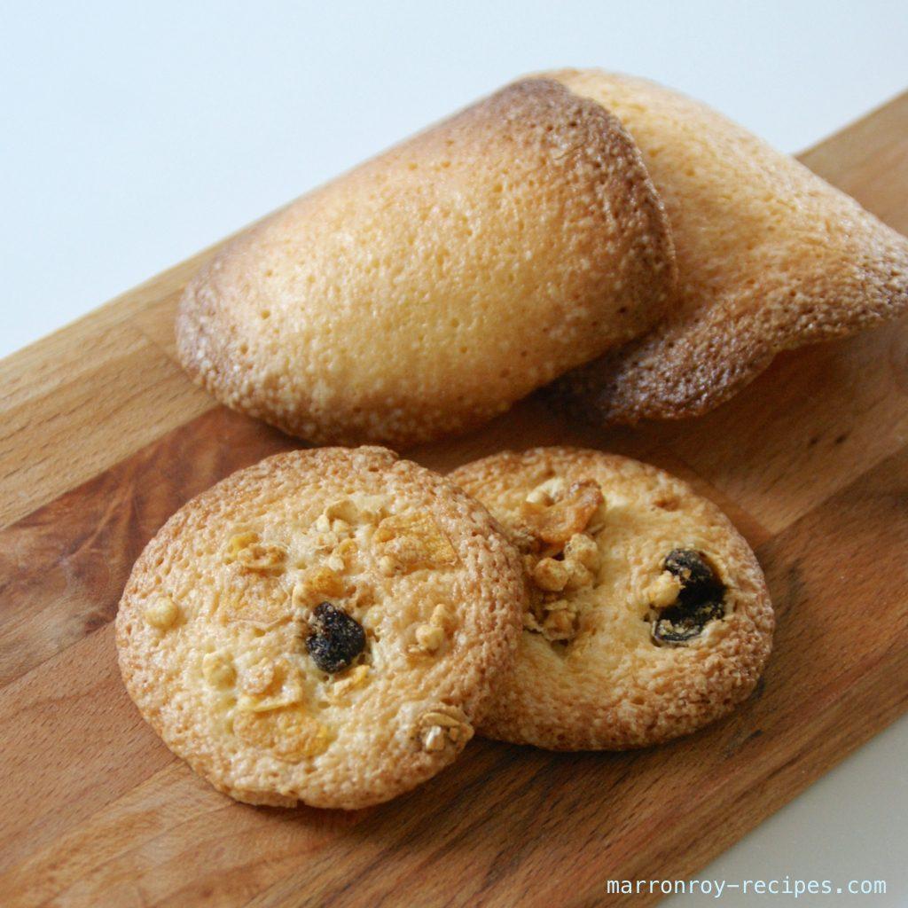 カリカリ食感!全卵使用のチュイルクッキー