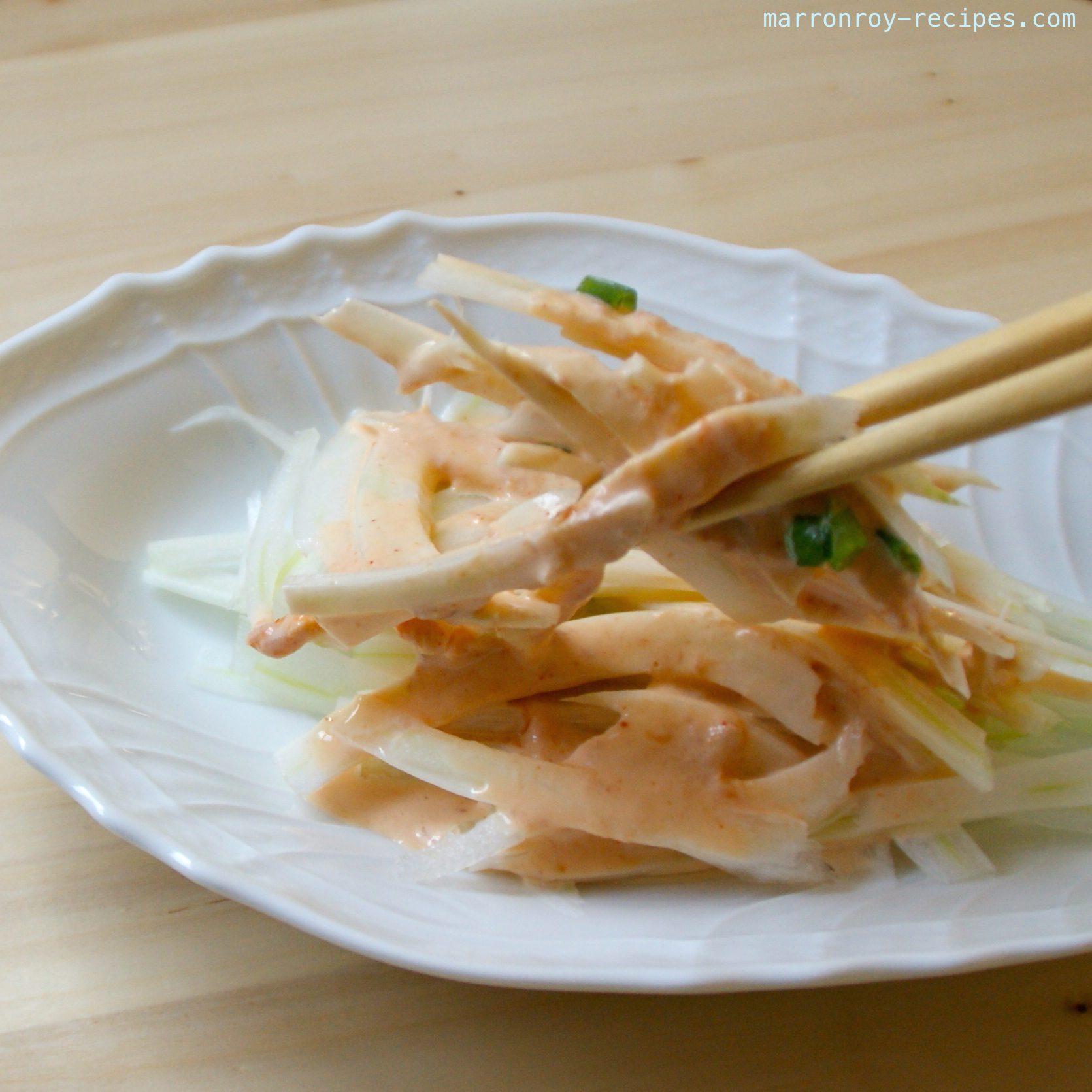 シャキシャキっと食べられる白菜のツナソースがけ