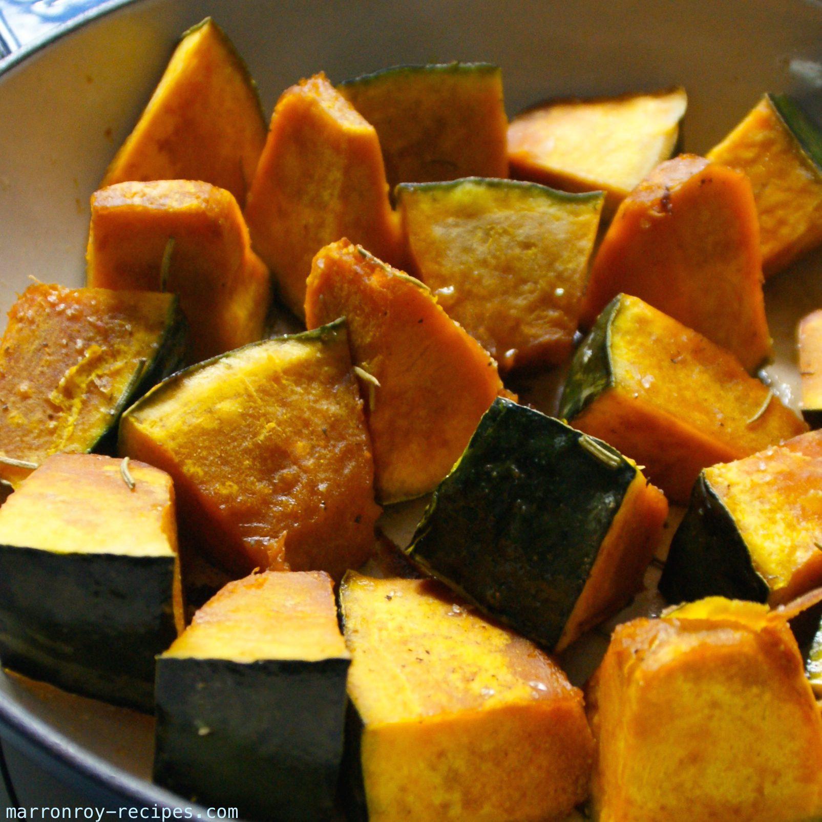 かぼちゃのローズマリー風味オーブン焼き