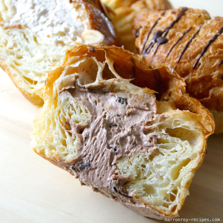 クロワッサンシューに新しい味が登場です!チョコ&プラリネ
