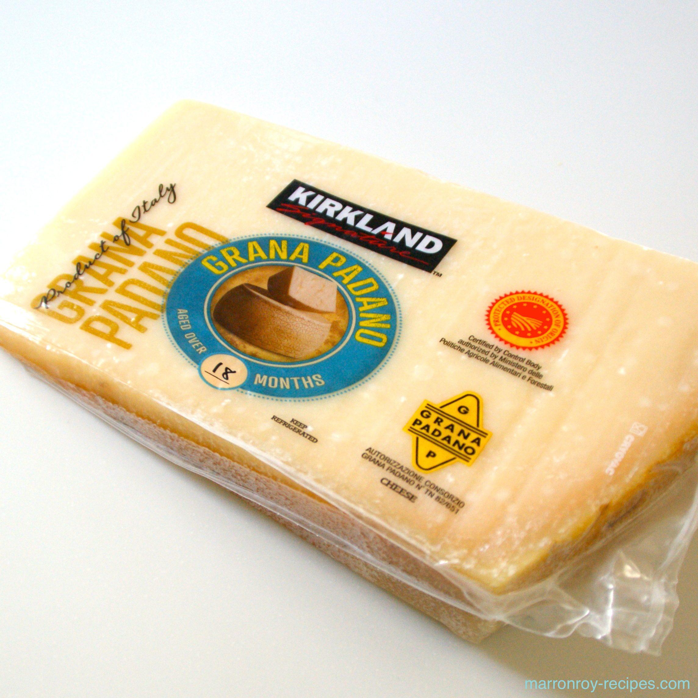 """コストコのハードチーズ""""グラナ・パダーノ""""活用法。ベーコンとサラダほうれん草のパスタ"""