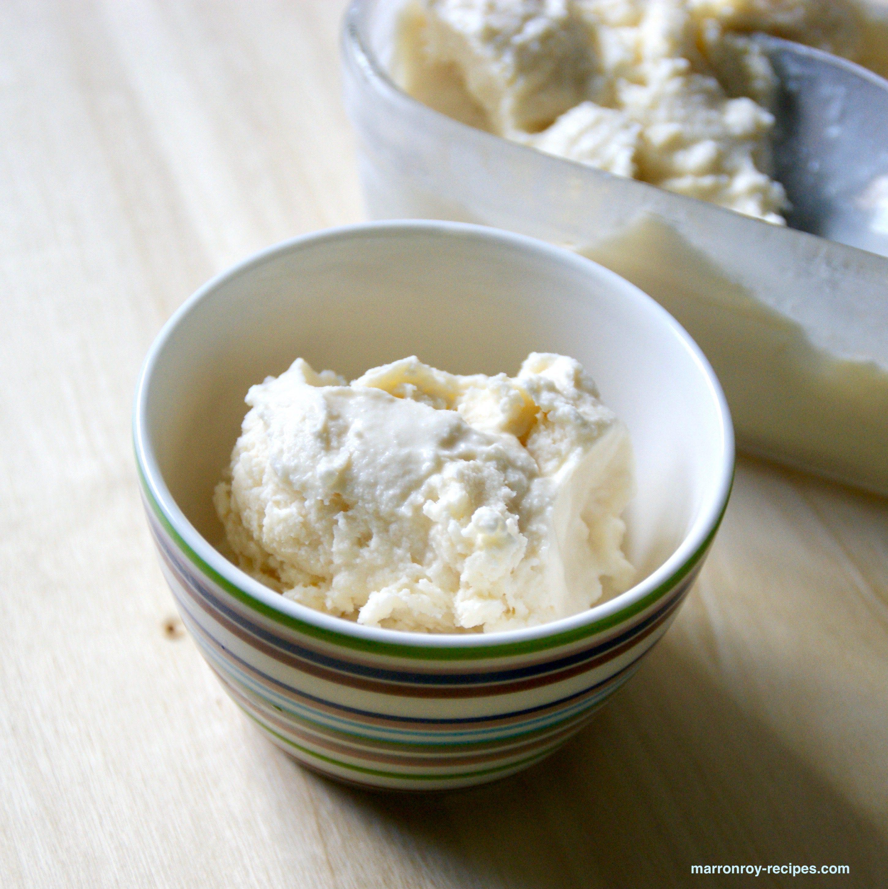 たまには手作り!卵不使用あっさりメープルアイスクリームはいかが?