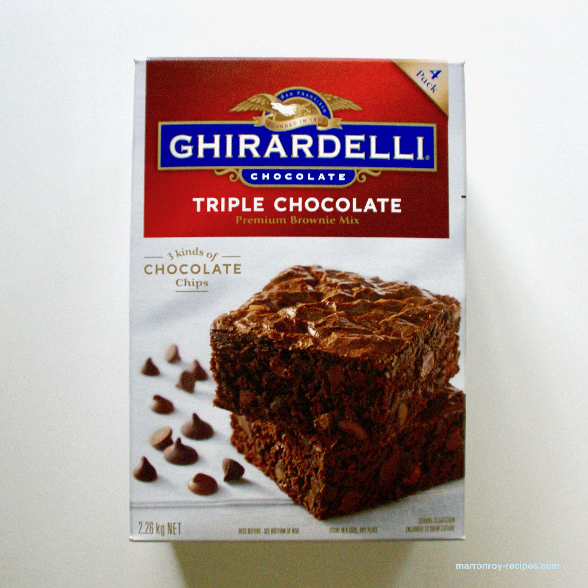 """やっぱりチョコが好き。GHIRARDELLI(ギラデリ)""""トリプルチョコレート プレミアム ブラウニーミックス"""""""