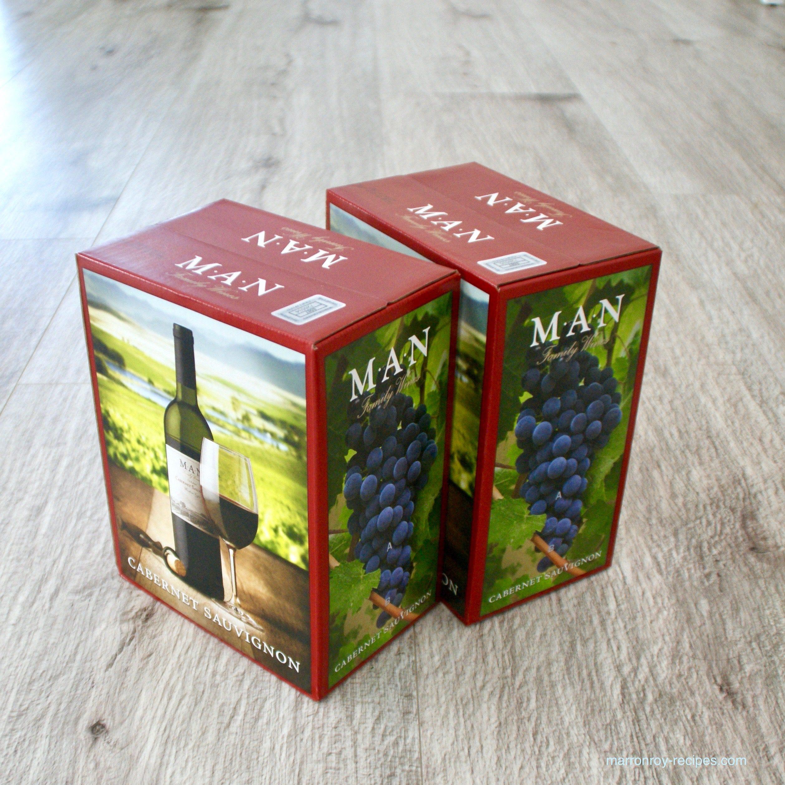 """コストコの南アフリカ産箱入りワイン""""MAN ファミリーワイン"""""""
