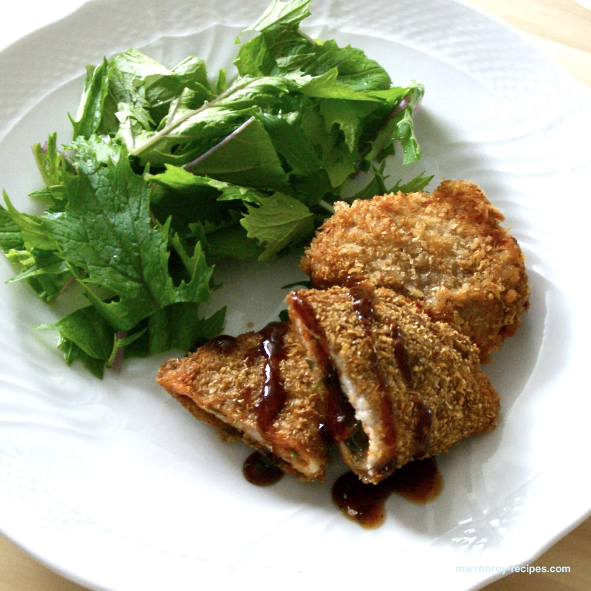 """コストコ""""三元豚ロースショウガ焼き用""""で作るキムチチーズカツ"""