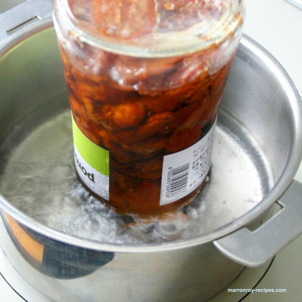 ドライトマト熱湯