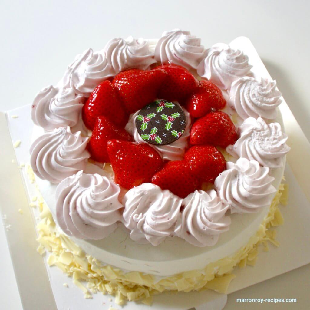 ホリデーシーズンケーキ