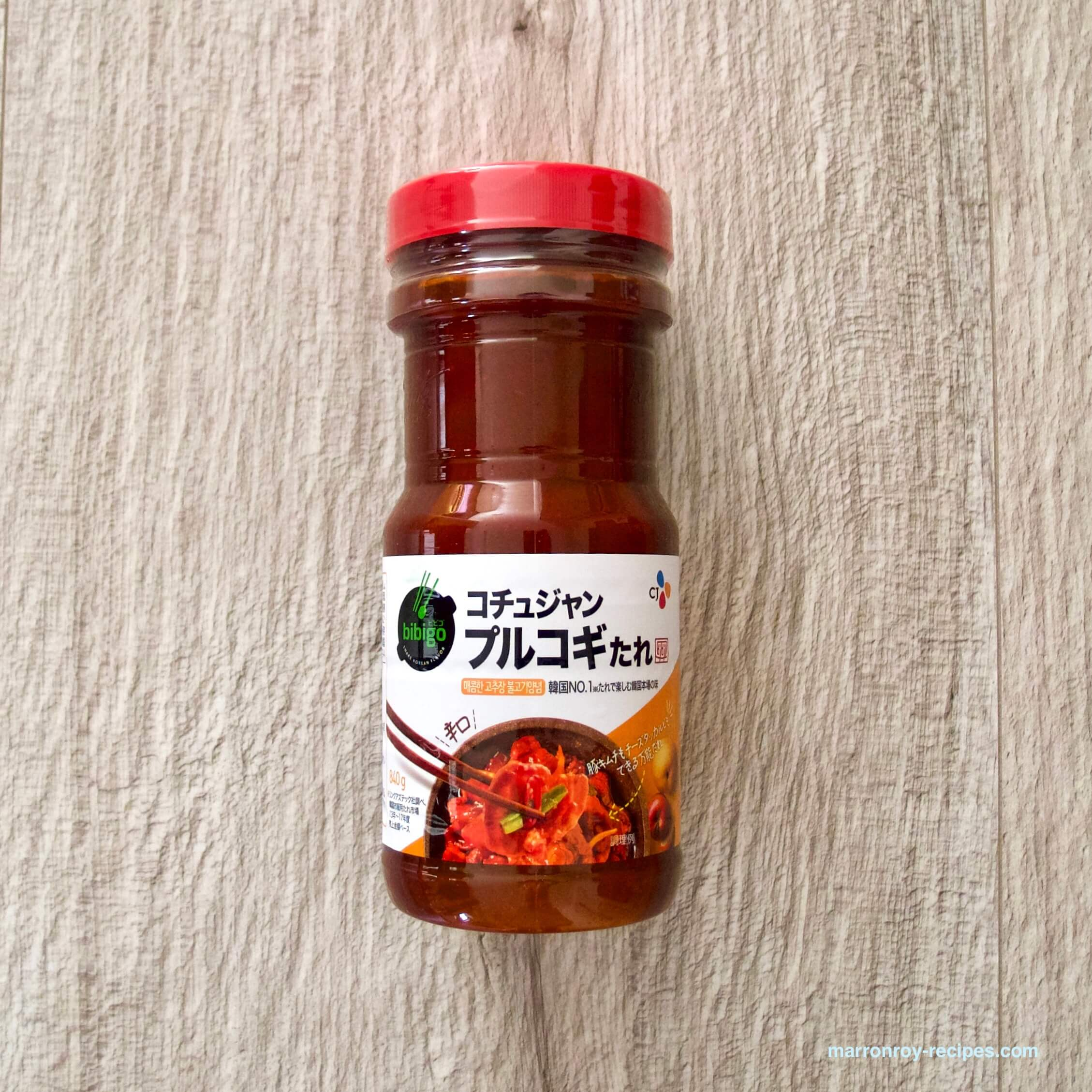 """コストコの調味料""""bibigo(ビビゴ)コチュジャン プルコギたれ""""でプルコギビーフ"""