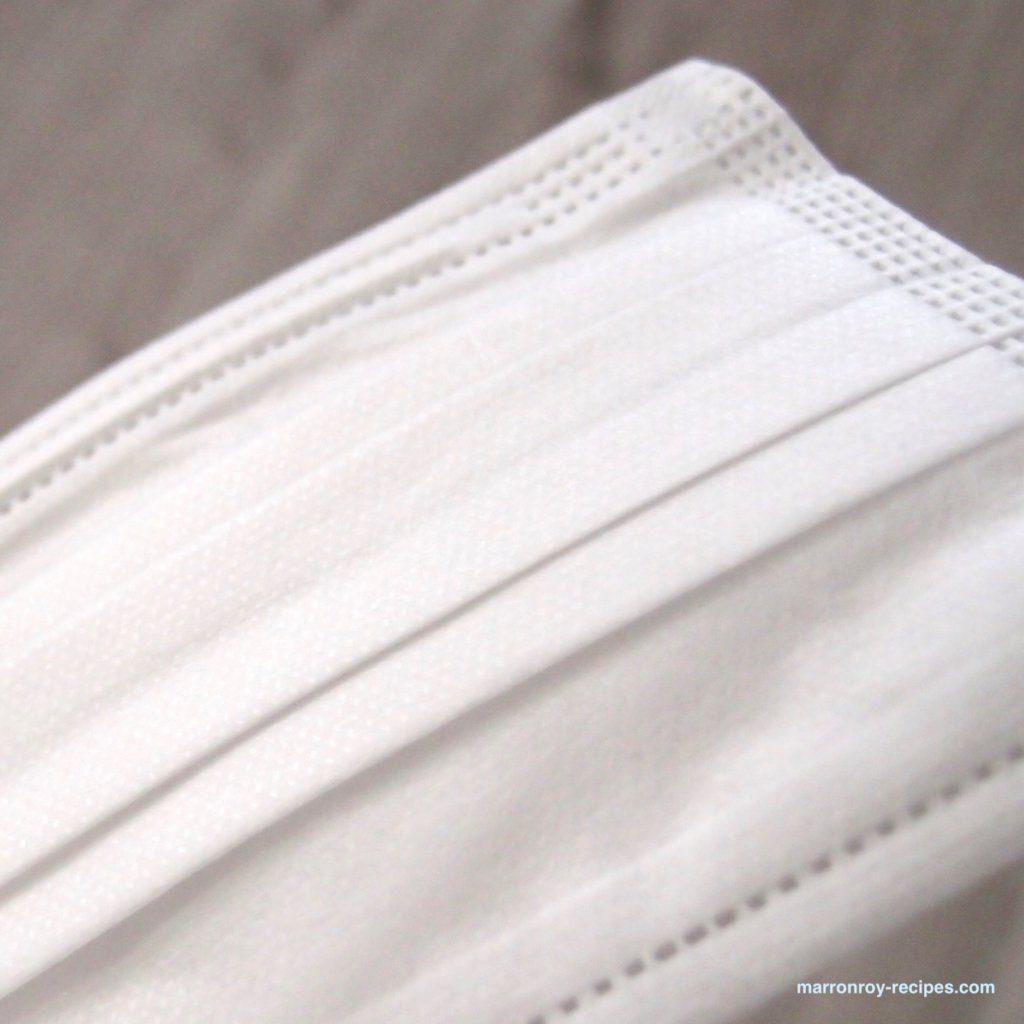立体型不織布マスクふつう外側