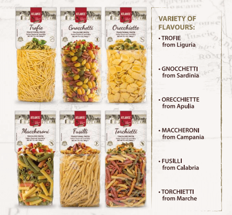 atlante pasta種類
