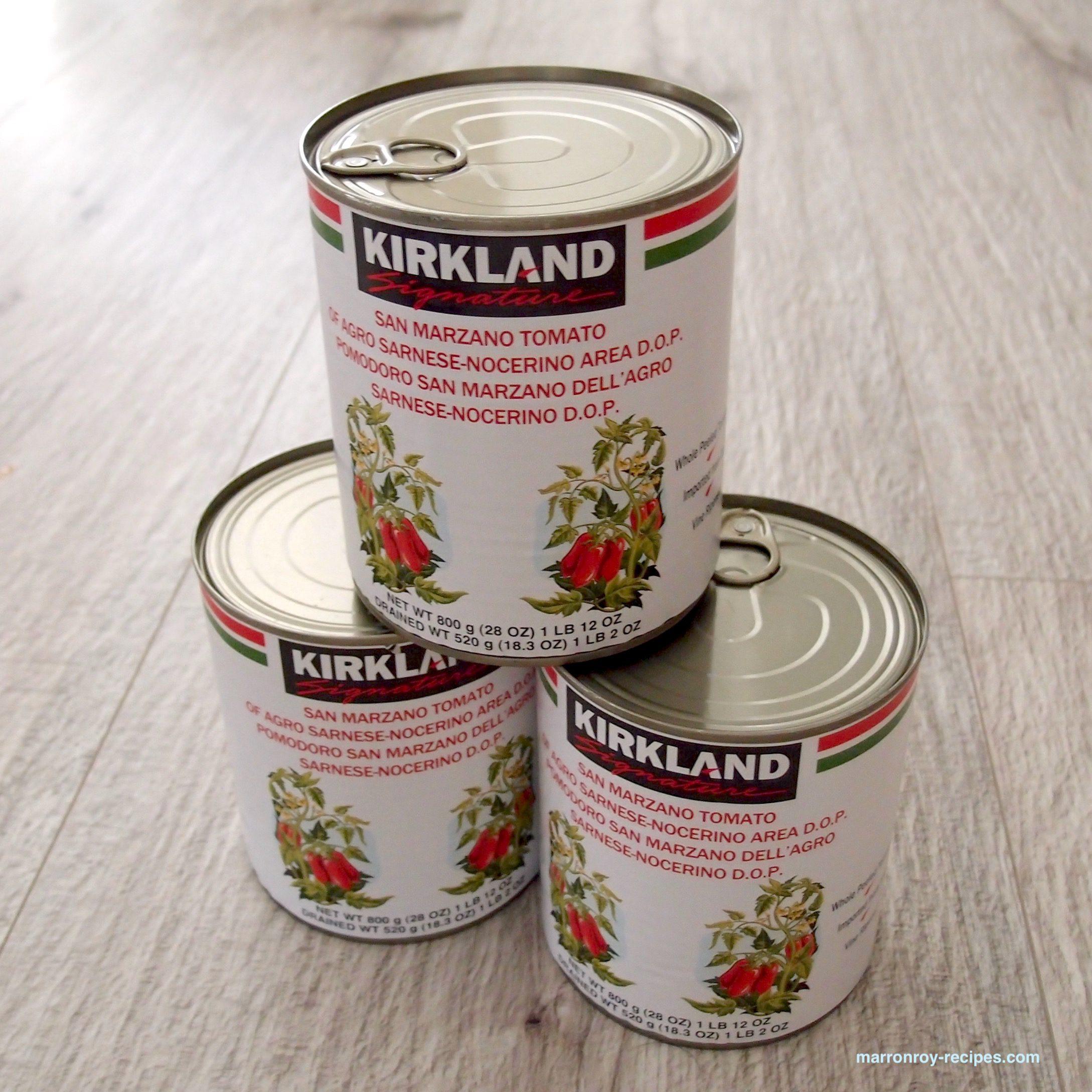 """コストコ新商品!""""カークランドシグネチャー サンマルツァーノDOP ホールトマト缶"""""""