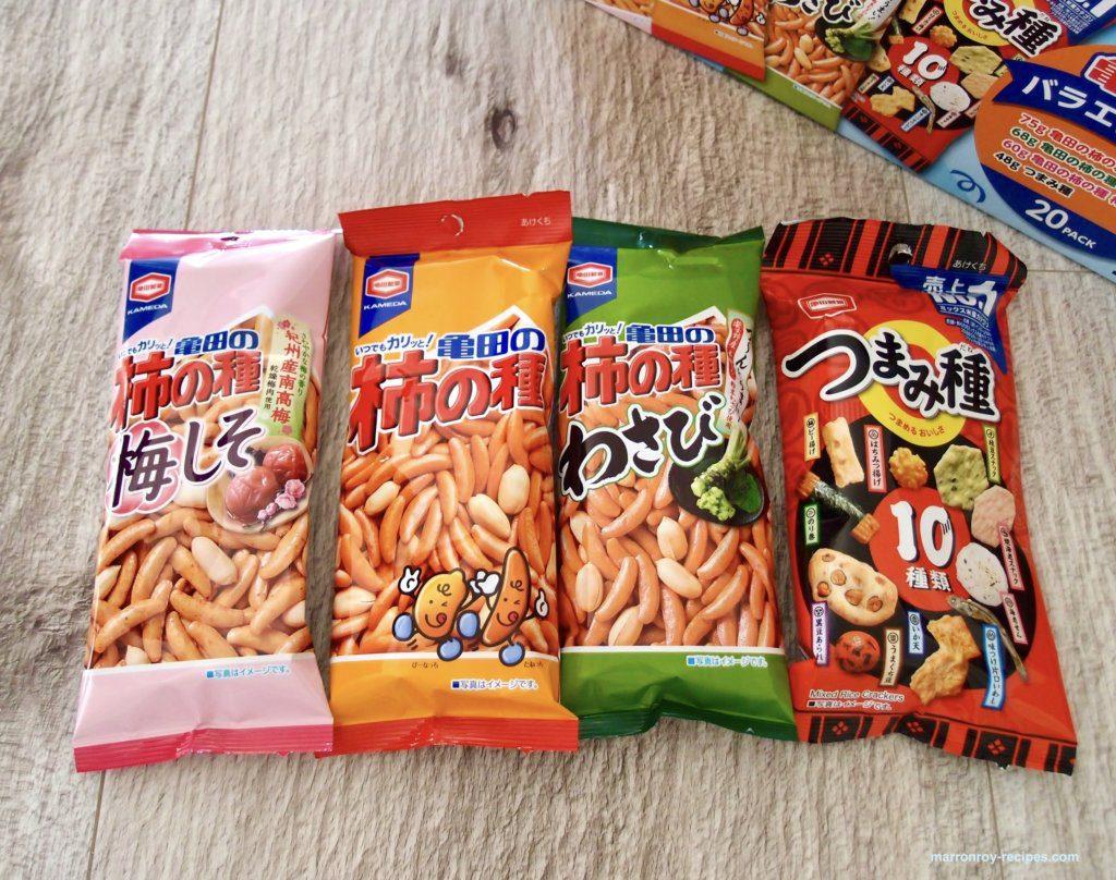 4種類亀田製菓