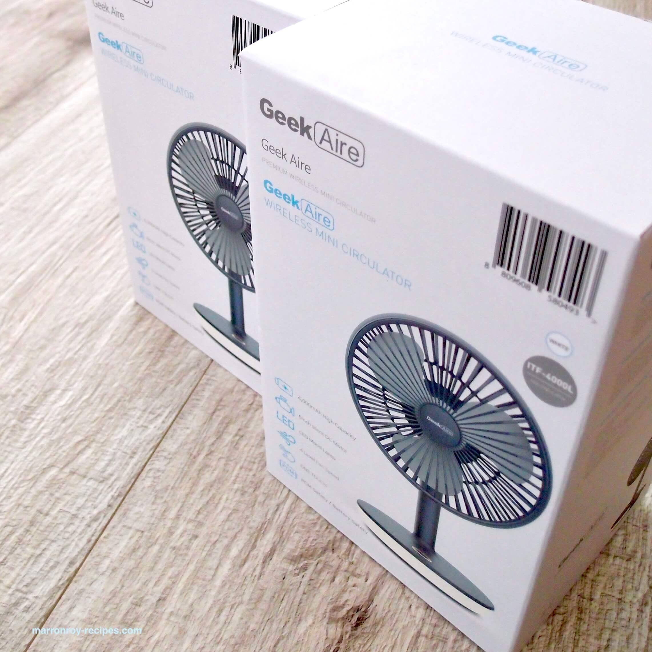 """コストコで購入したワイヤレス卓上用扇風機ってどんなもの?""""Geek Aire(ギーク エア)"""""""
