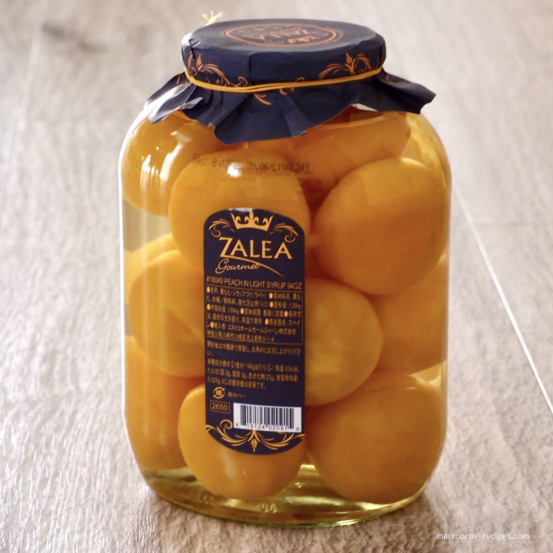 """コストコで購入できる巨大な瓶 """"ZALEA(サレア)黄桃シロップ漬け""""ってどんなもの?"""