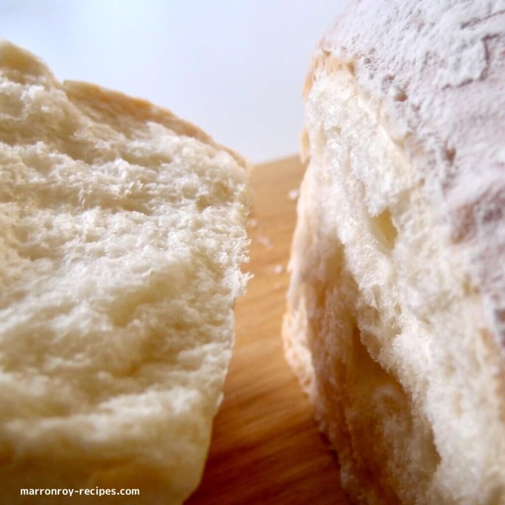 割いたパン