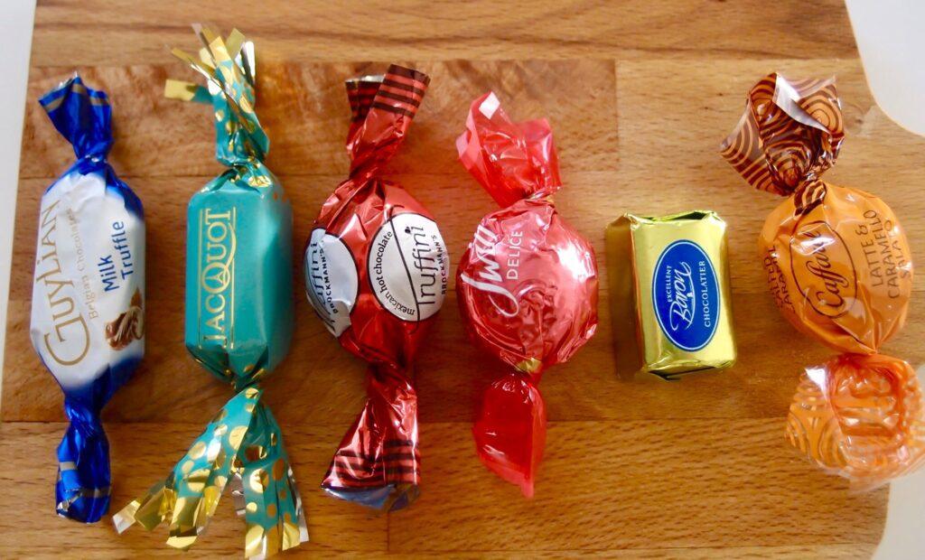6種類のチョコ