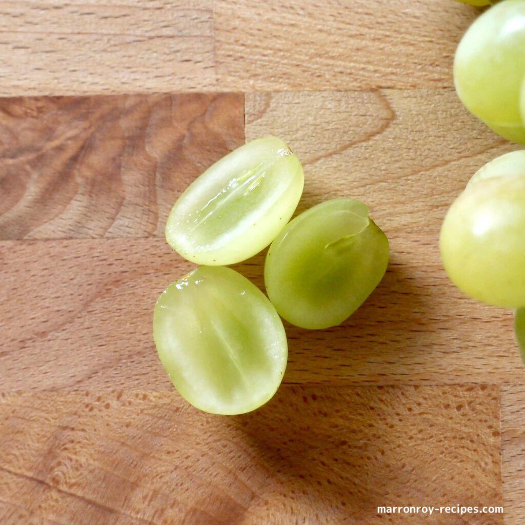 cutting grape
