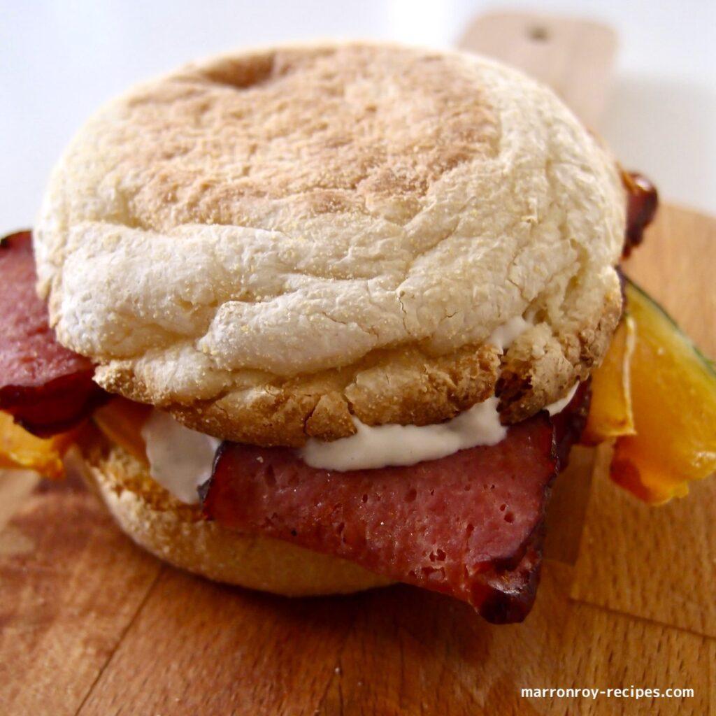 muffin bacon