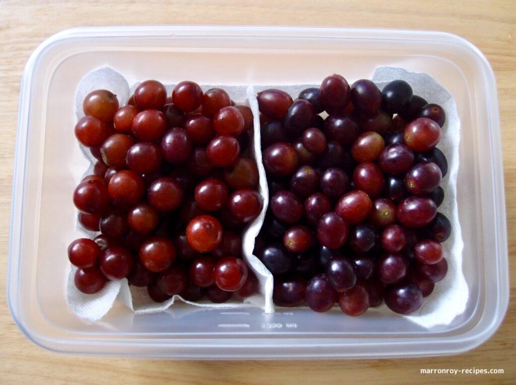 separate grapes