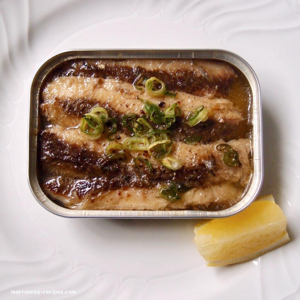 oil sardines bake