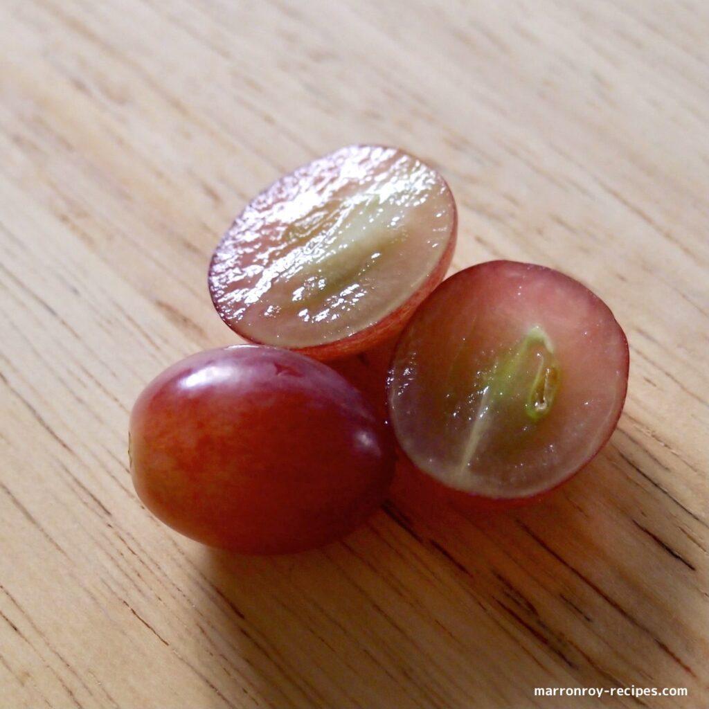 cut grape