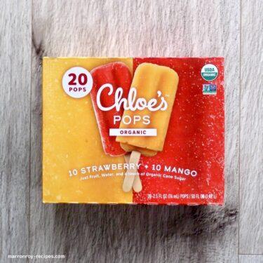 """これぞこだわりのアイスキャンディ!!コストコ""""Chloe's Pops オーガニック ストロベリー&マンゴー"""""""